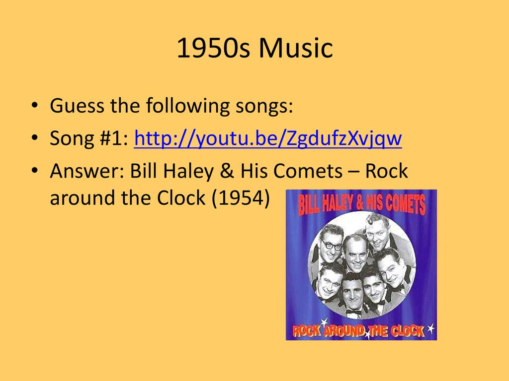 1950s – Guess Who?  - ppt download