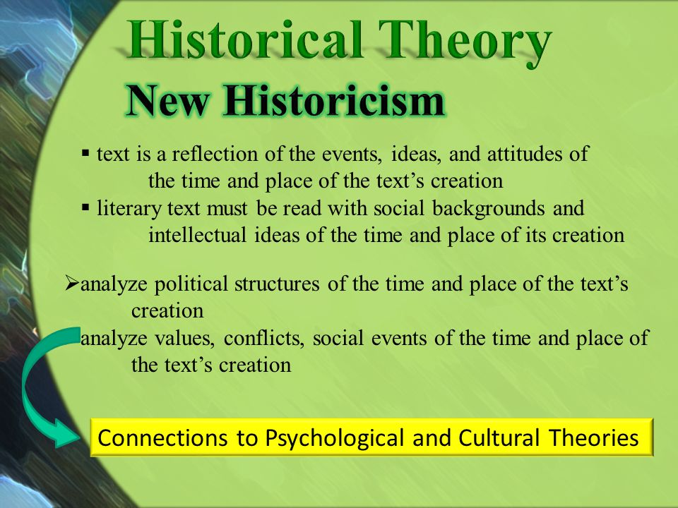 Historical Theory New Historicism