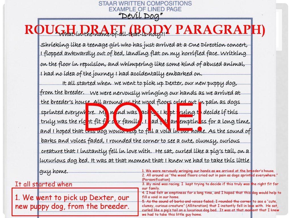 Writing a Personal Narrative - ppt download