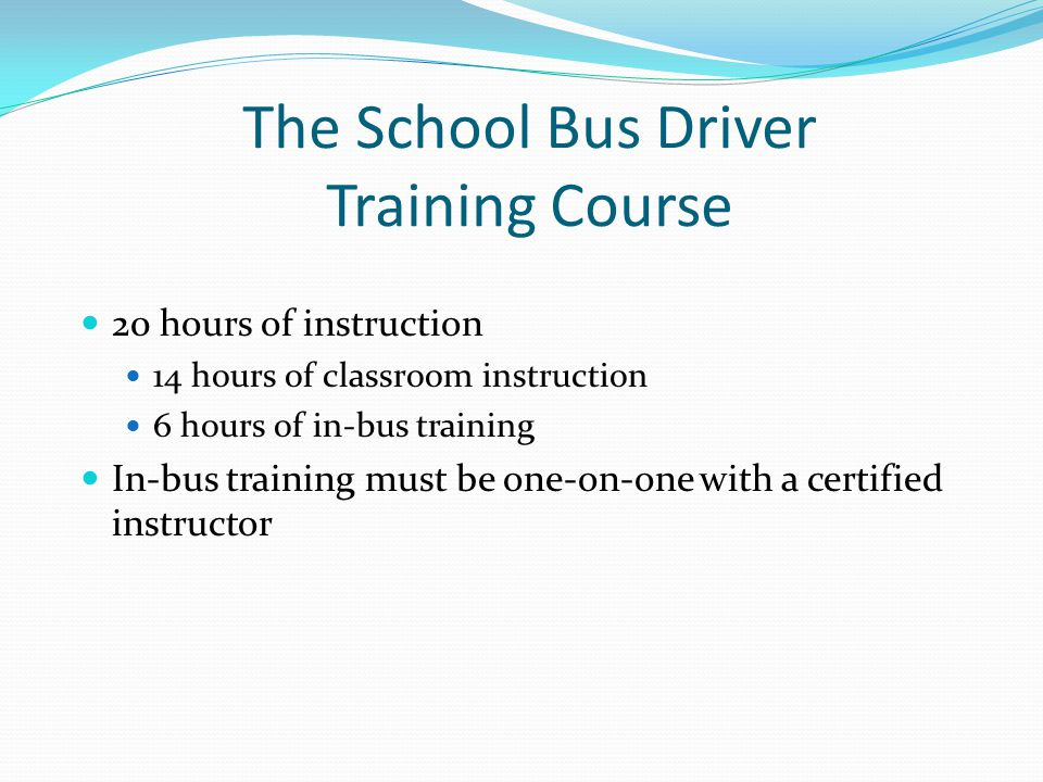 School Bus Driver Training Ppt Video Online Download