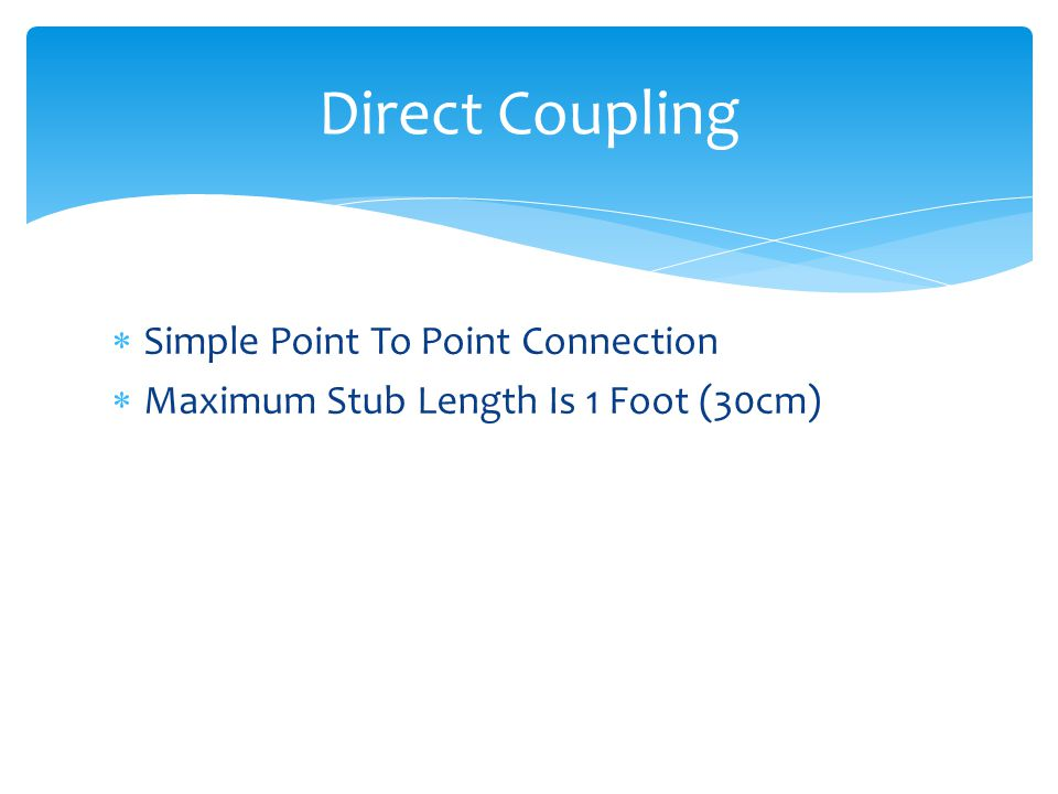 Direct Coupling Simple Point To Point Connection