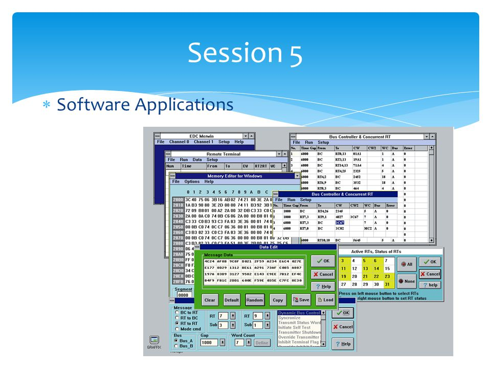 Session 5 Software Applications