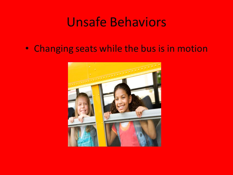 Changing seats while the bus is in motion