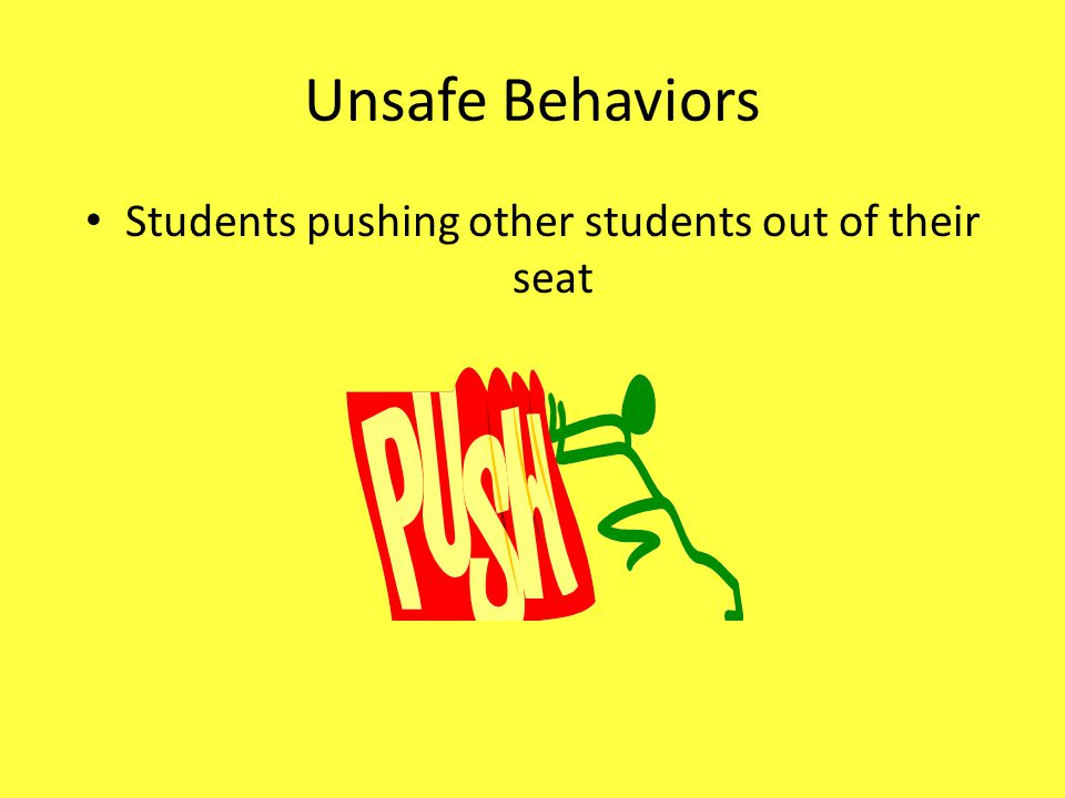 Students pushing other students out of their seat