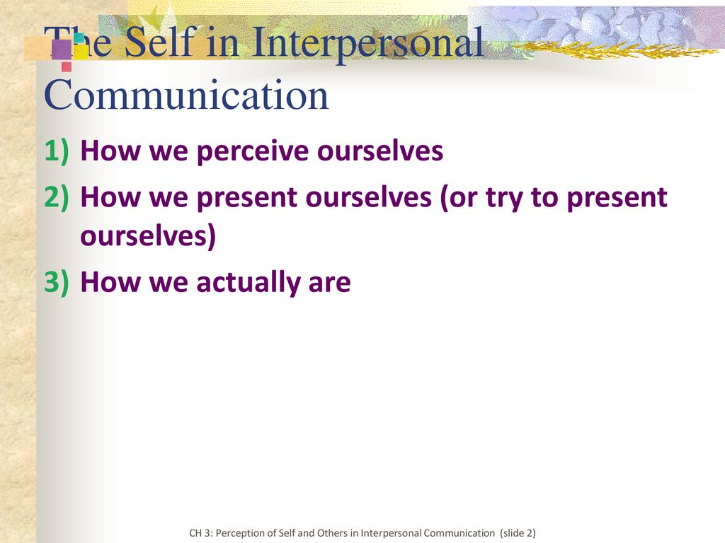 perception and interpersonal communication