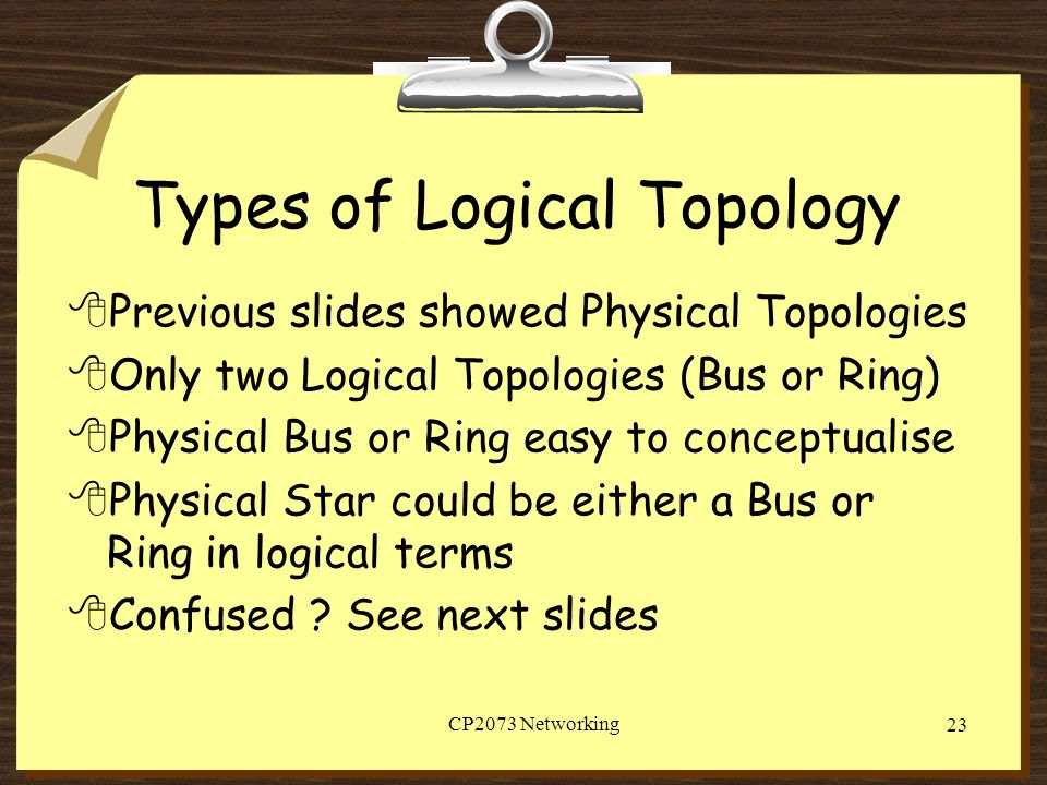 Types of Logical Topology