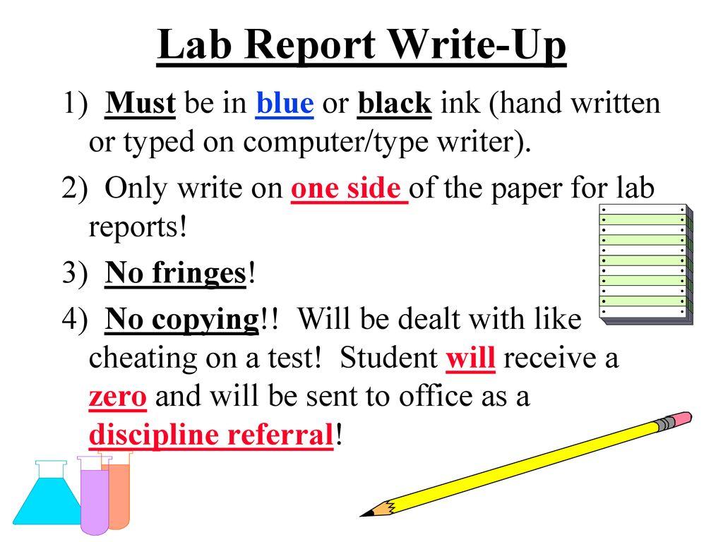 lab report write up