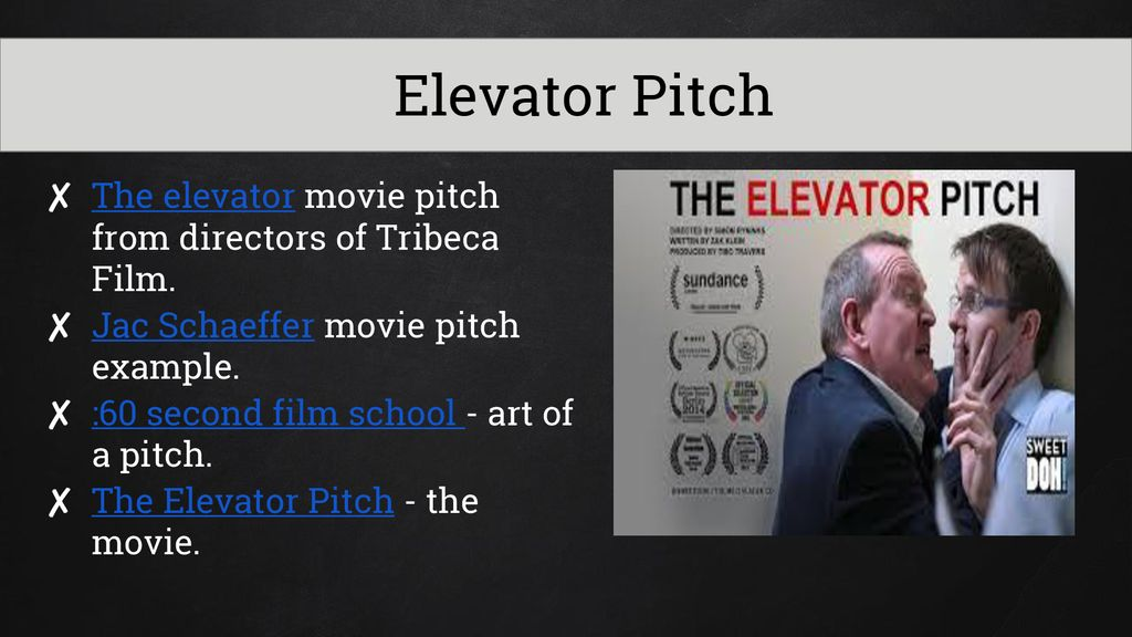 """The best """"elevator pitch"""" of the world? Youtube."""
