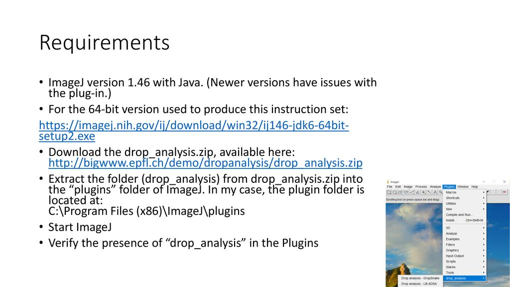 Drop Shape Analysis Quick Start Guide with ImageJ - ppt download