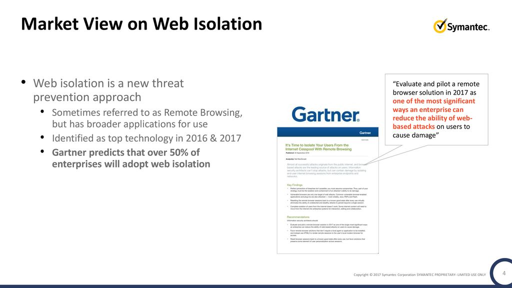 Symantec Web Isolation Secure Access to Uncategorized and