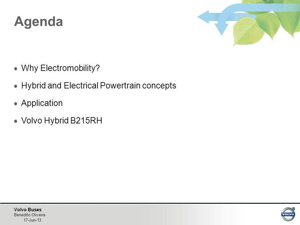 Agenda Why Electromobility Hybrid and Electrical Powertrain concepts