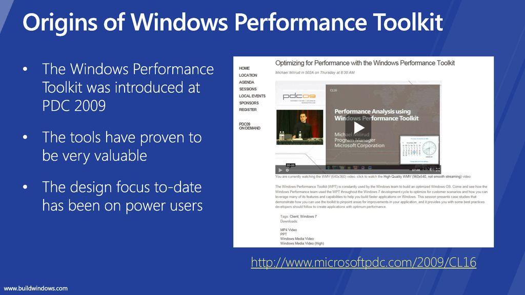 windows performance toolkit windows 7