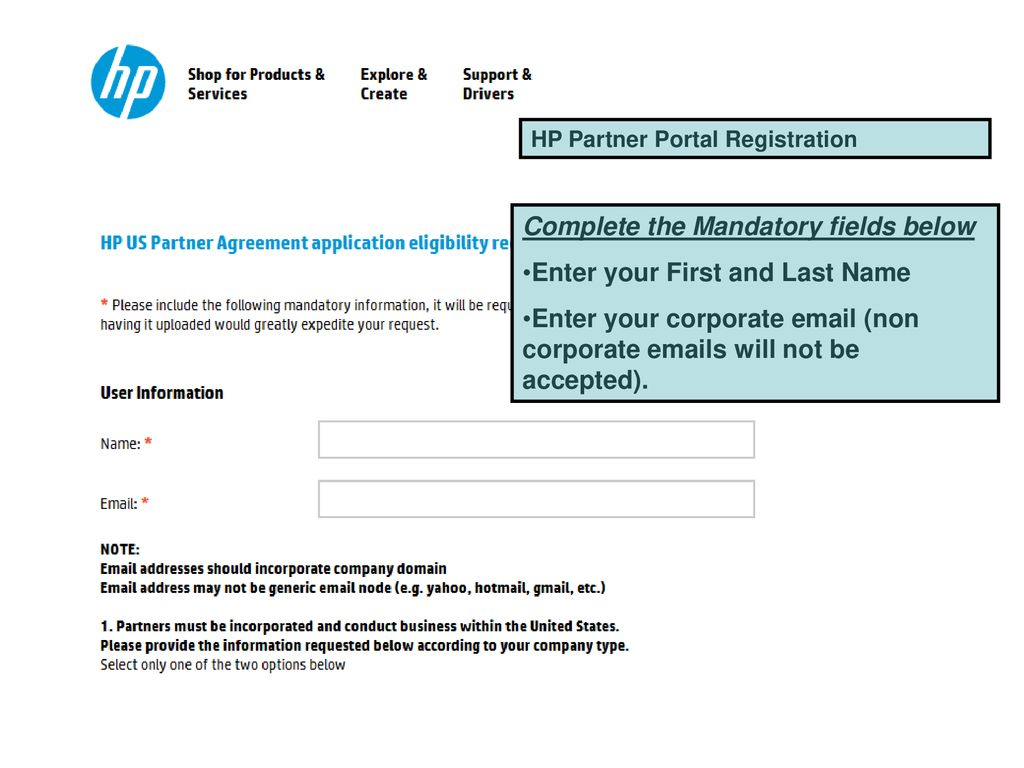 Steps to apply for the HP Partner Agreement - ppt download
