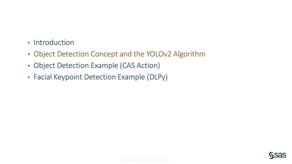 SAS Deep Learning Object Detection, Keypoint Detection - ppt