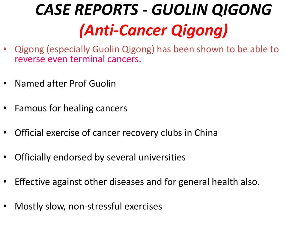 PREVENTING CANCER WITH QIGONG - ppt download