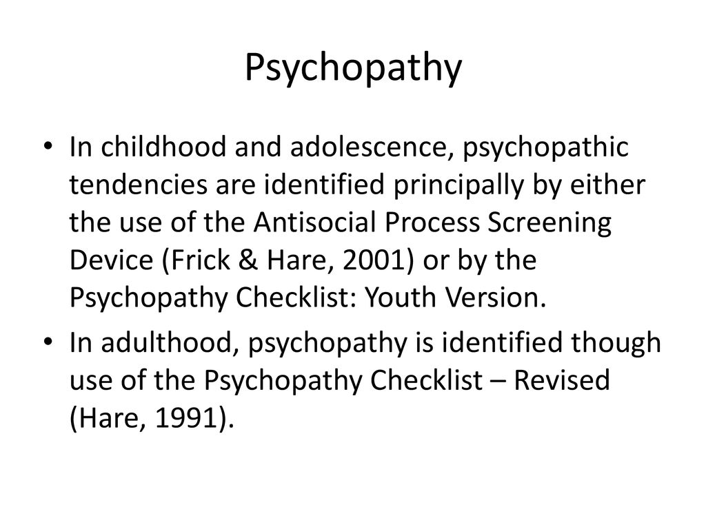 Psychopathy Ppt Download