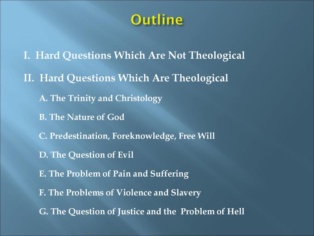 Christian Apologetics: Answering the Hard Questions - ppt
