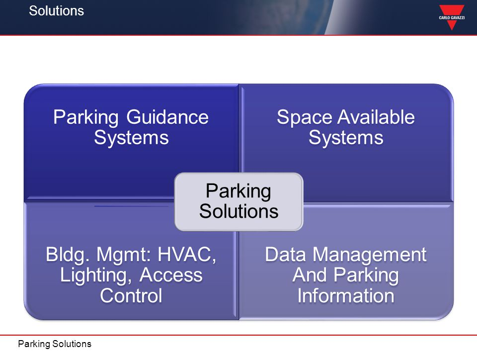 Solutions Parking Solutions Parking Solutions Parking Guidance Systems