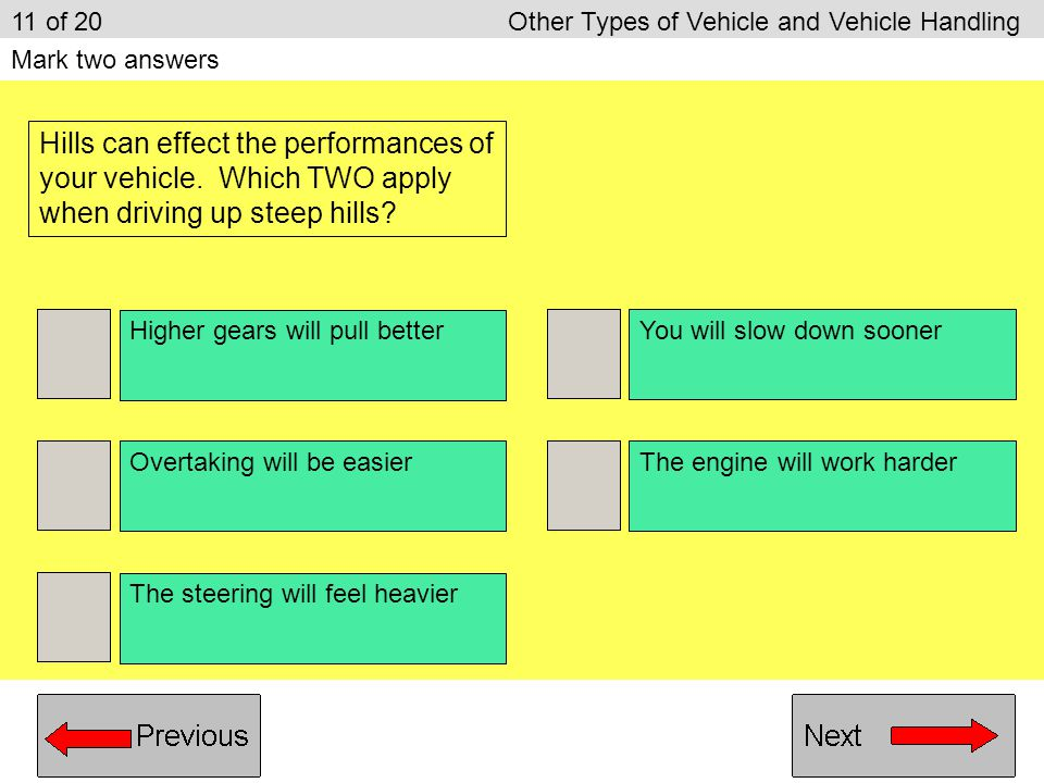 11 of 20 Other Types of Vehicle and Vehicle Handling