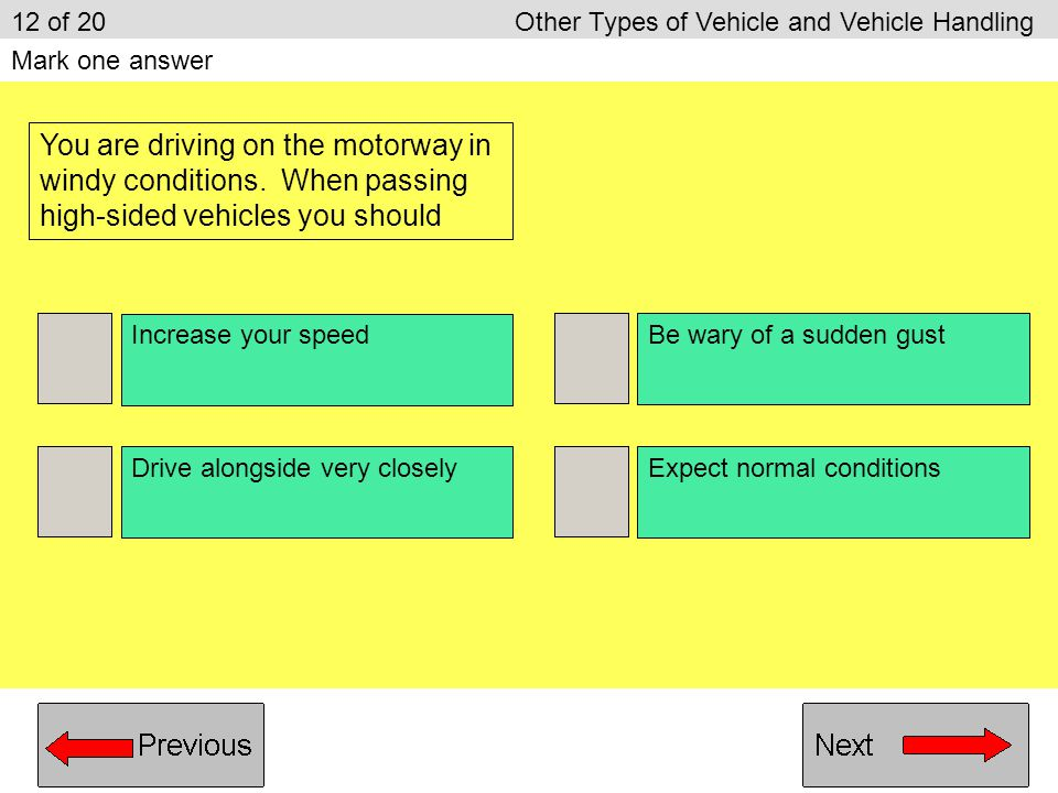 12 of 20 Other Types of Vehicle and Vehicle Handling