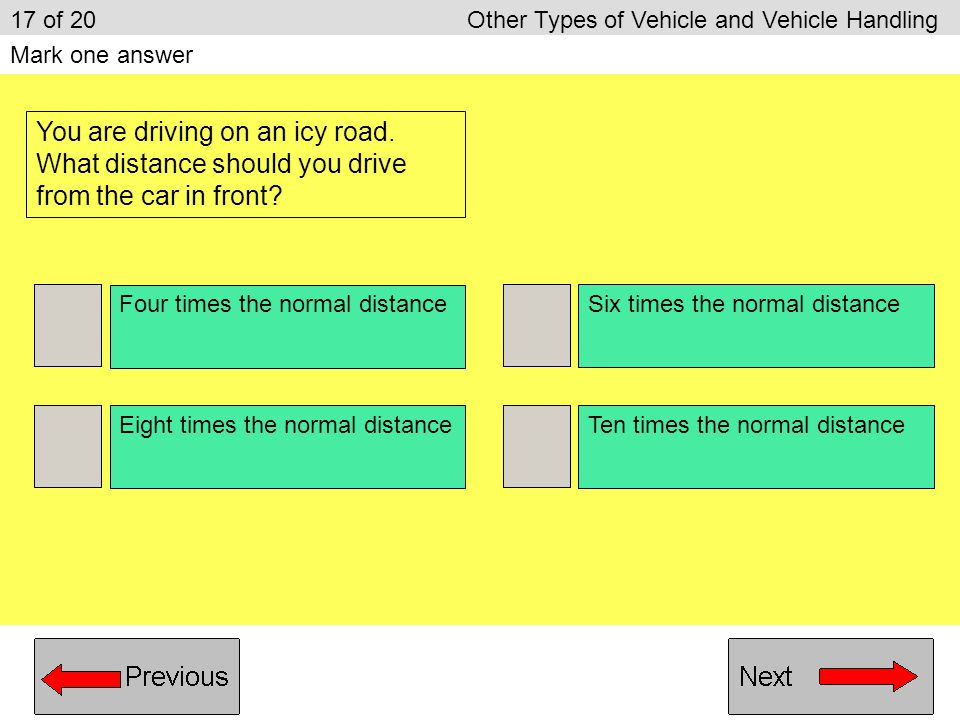 17 of 20 Other Types of Vehicle and Vehicle Handling