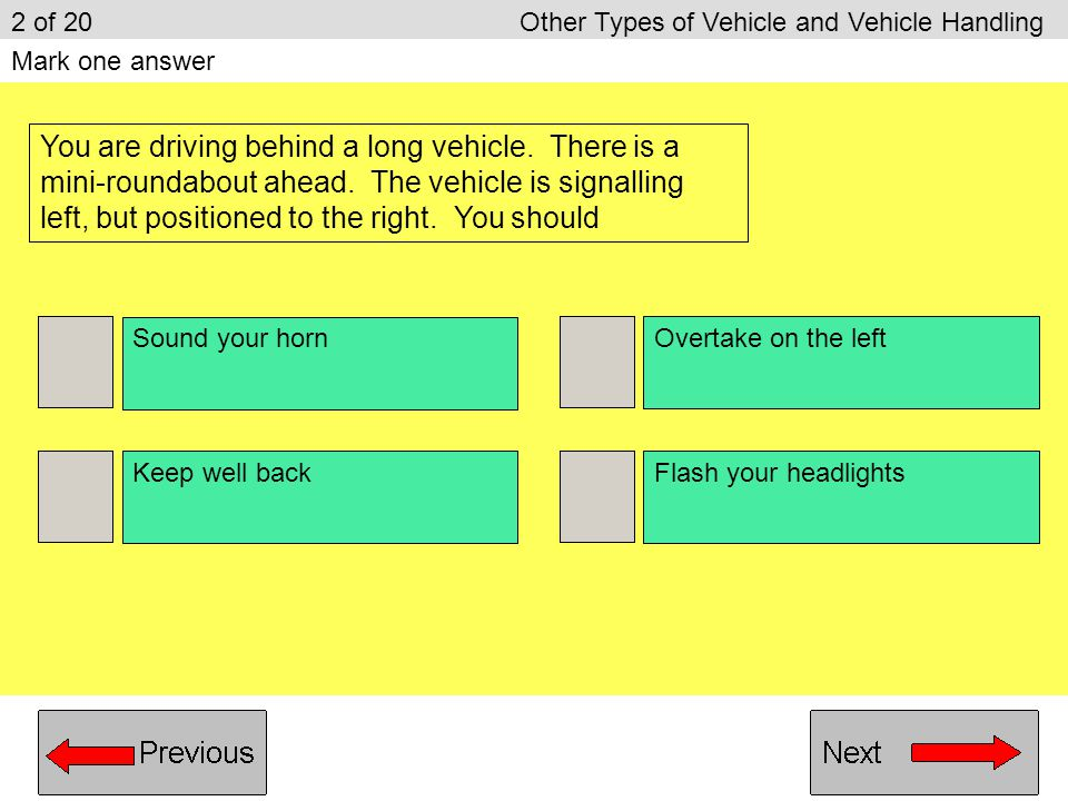 2 of 20 Other Types of Vehicle and Vehicle Handling