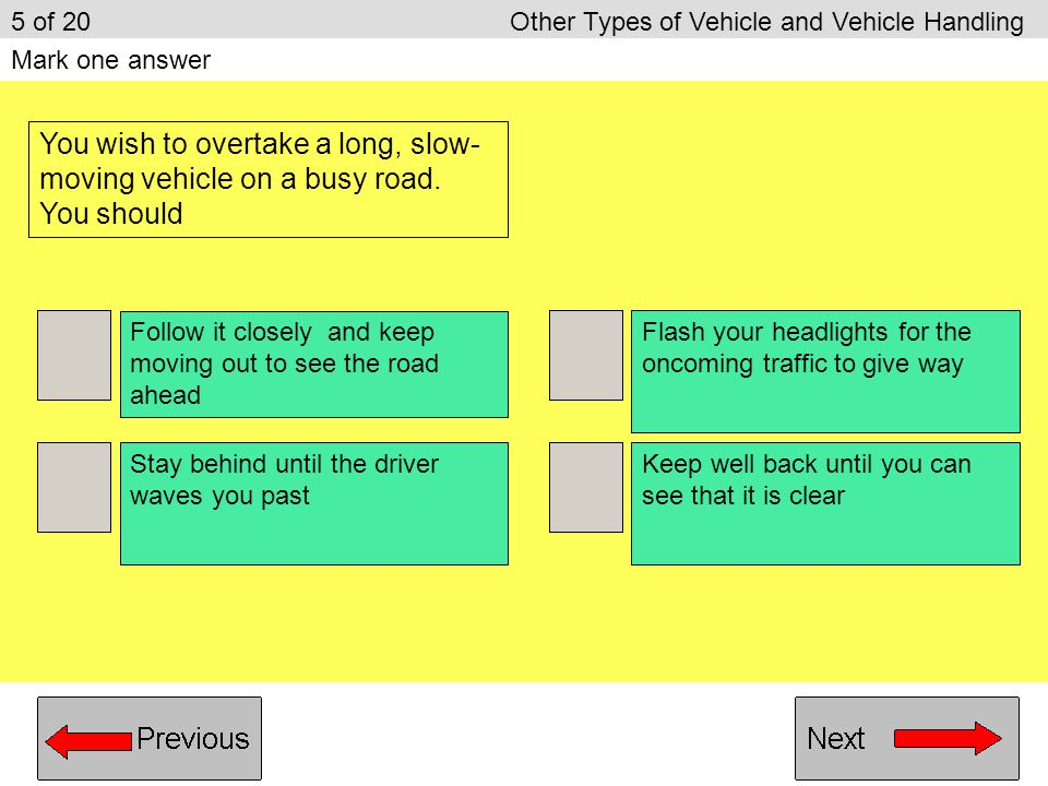 5 of 20 Other Types of Vehicle and Vehicle Handling