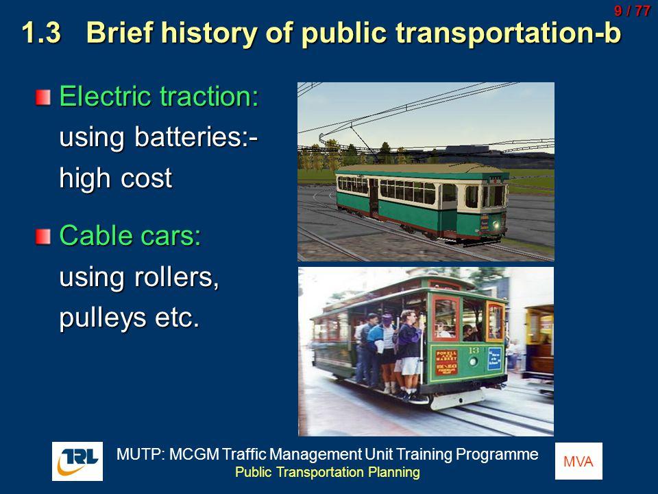 History of transportation.