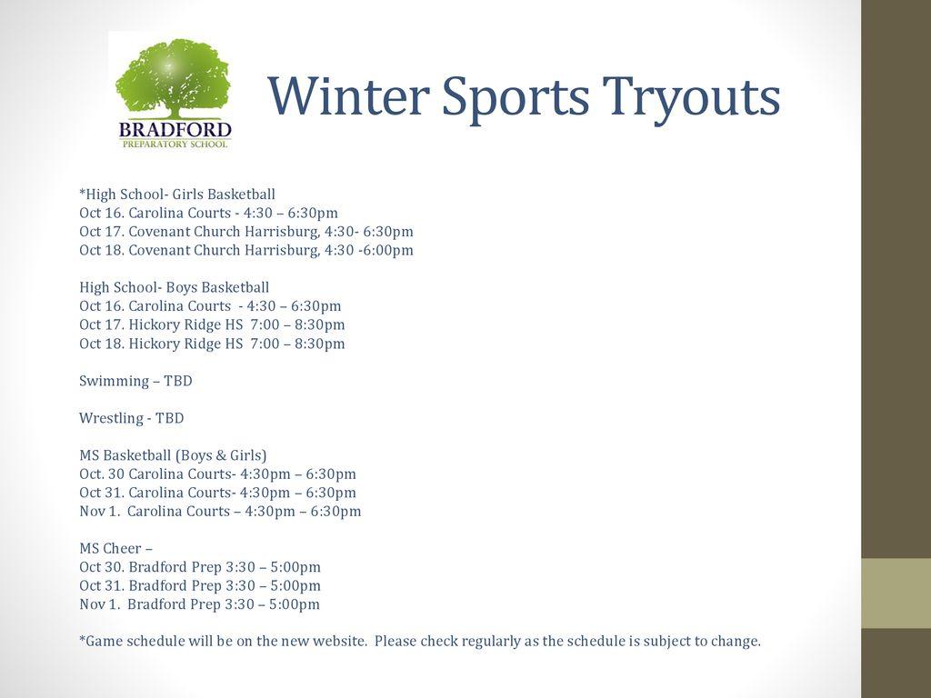 Bradford Prep Winter Sports Meeting - ppt download