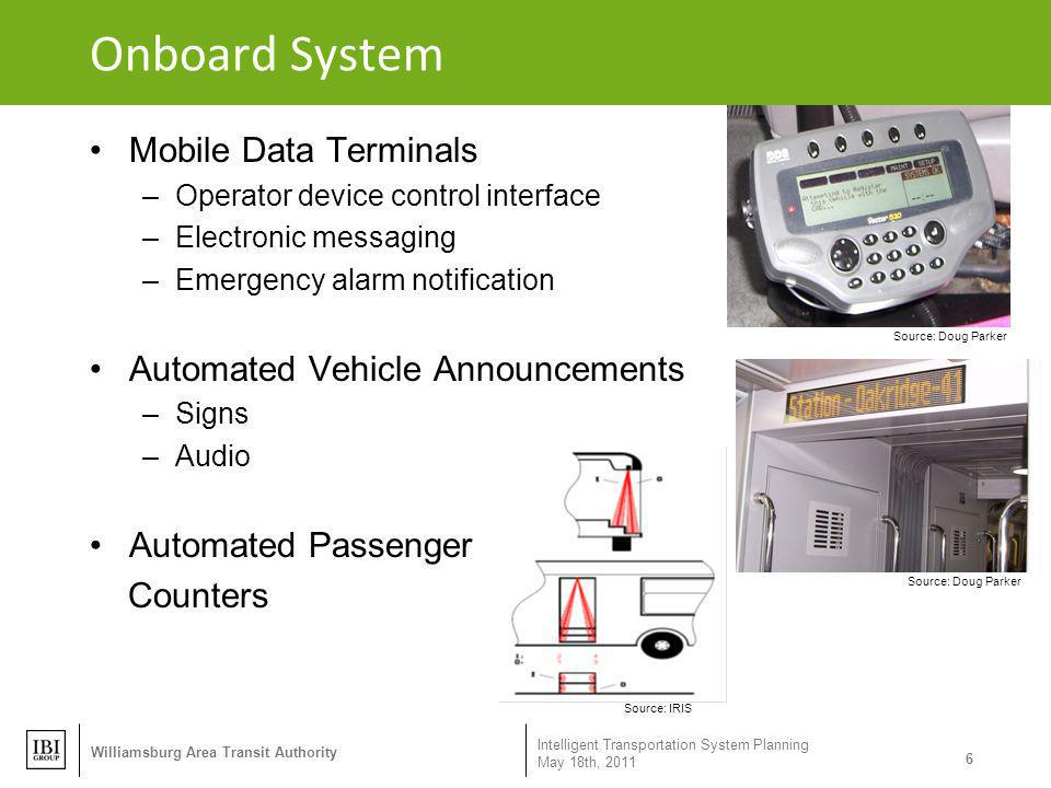 Onboard System Mobile Data Terminals Automated Vehicle Announcements