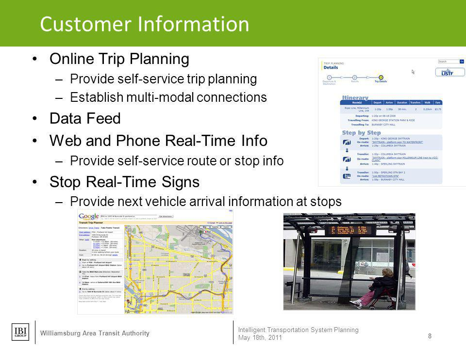 Customer Information Online Trip Planning Data Feed