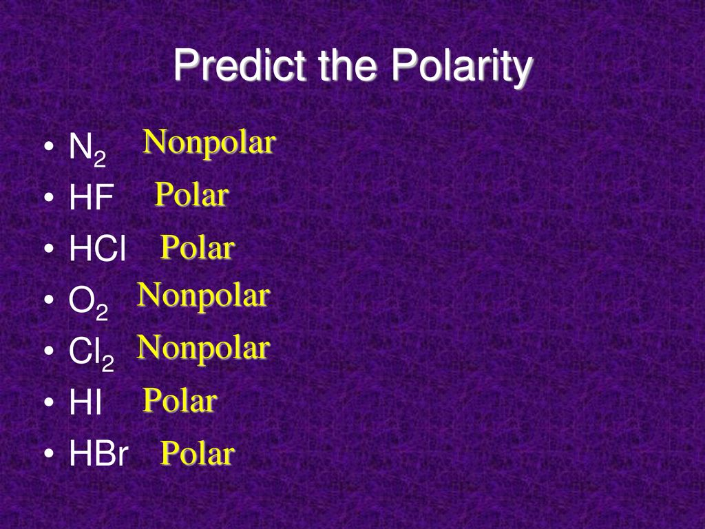 Polarity In Covalent Bonds Ppt Download