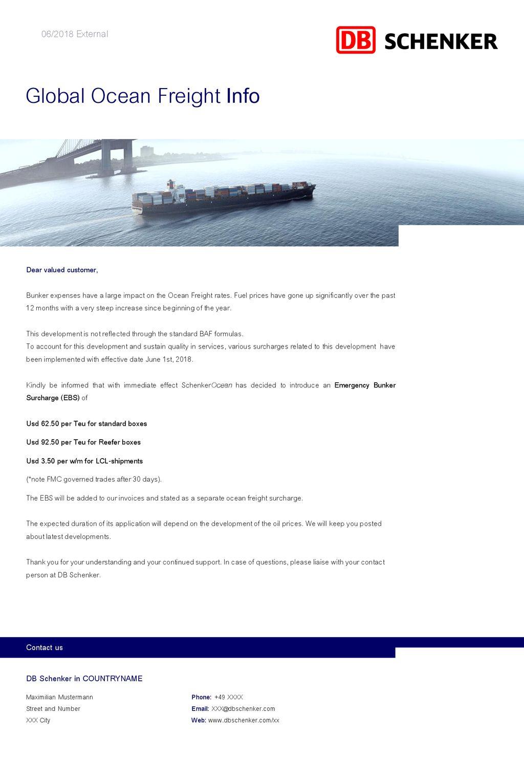 Global Ocean Freight Info - ppt download