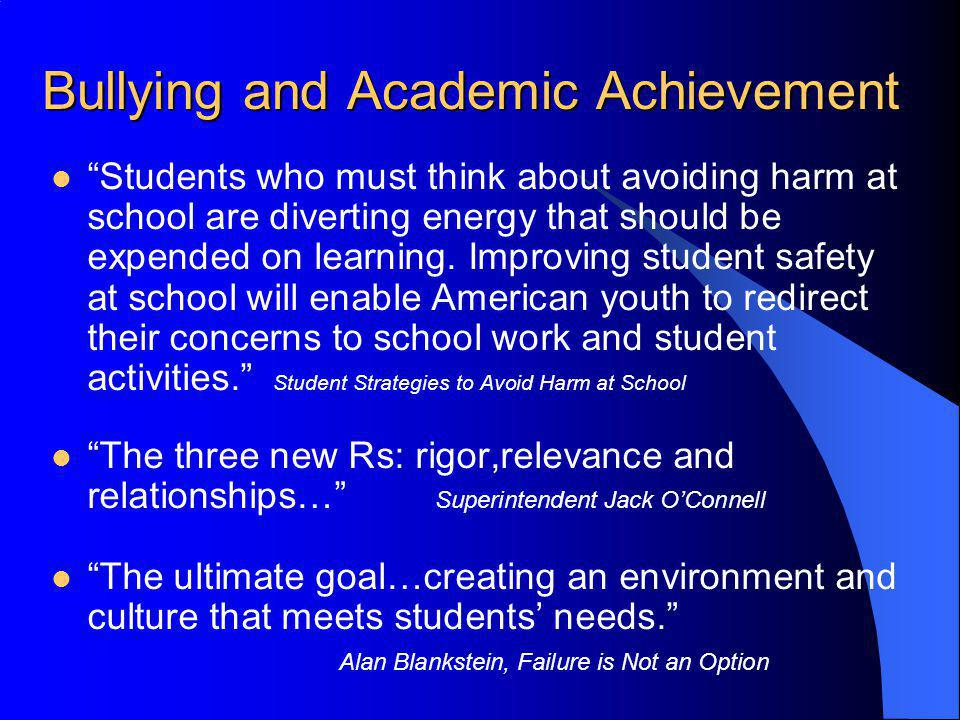 Bullying and Academic Achievement
