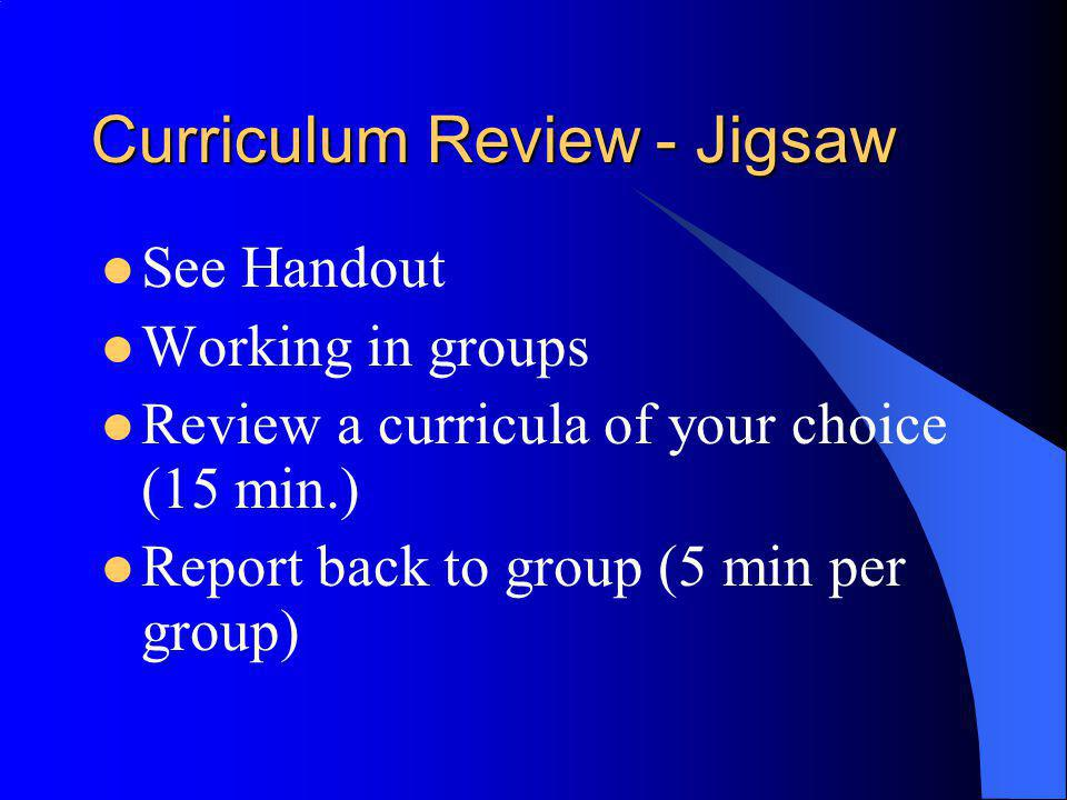 Curriculum Review - Jigsaw