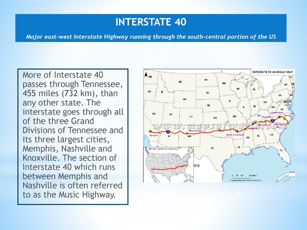 Transportation, Distribution and Logistics - ppt download on i-40 exits tennessee, i-40 in tennessee, i-40 road conditions tennessee, map of e tnn, map of northeast tn, map of knoxville tn and surrounding areas, interstate 40 tennessee, map hwy east tennessee,