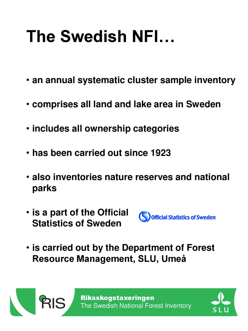 the swedish national forest inventory ppt download