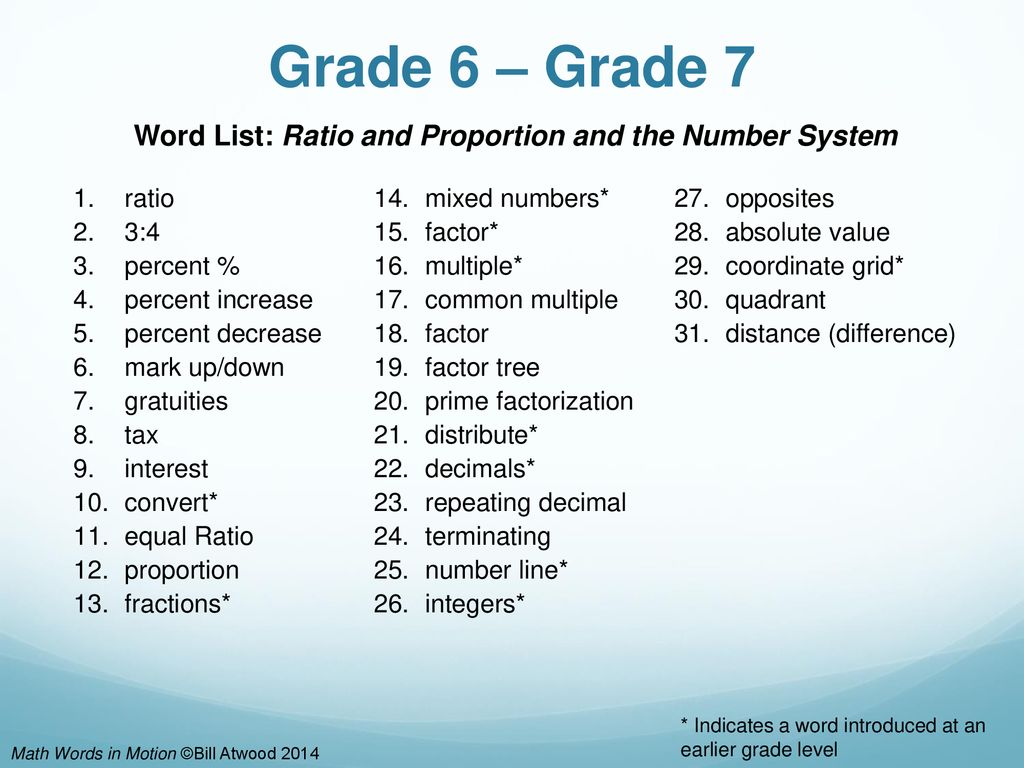 math words in motion bill atwood ppt download