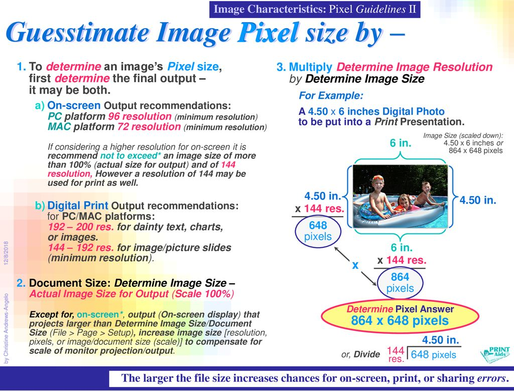 Image Characteristics – Size, Resolution, and Pixels - ppt