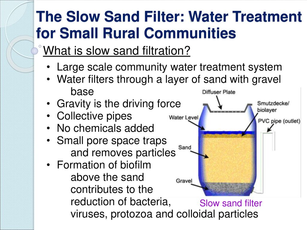 Slow Sand Filters for Water Treatment - ppt download