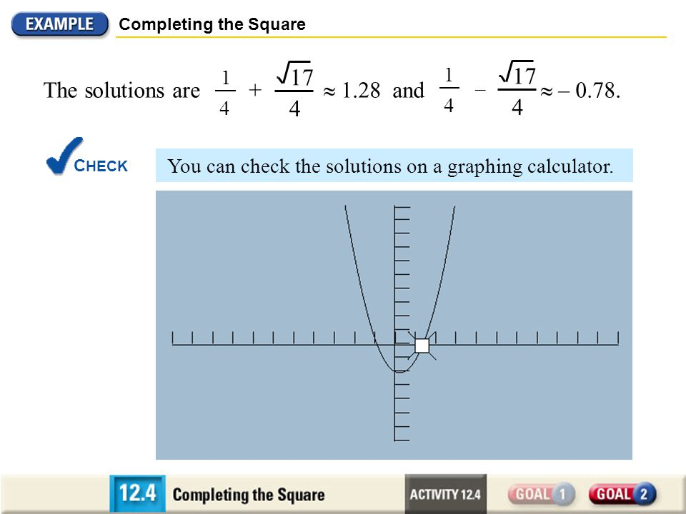 MODELING COMPLETING THE SQUARE - ppt download