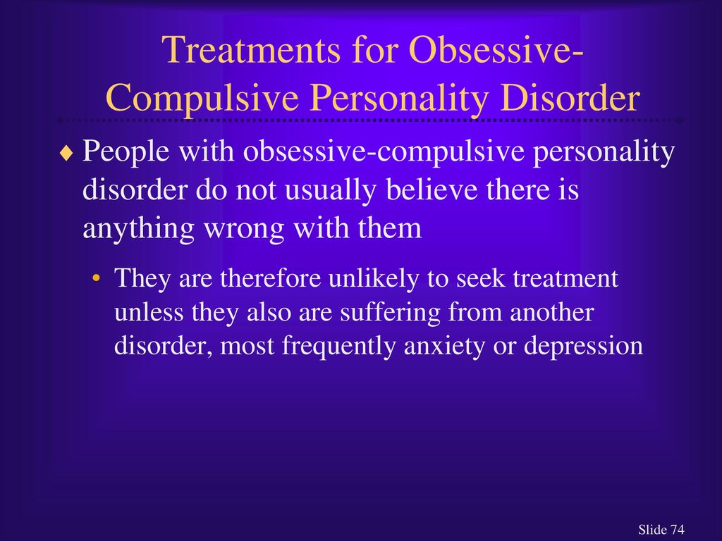 People with obsessive compulsive personality disorder