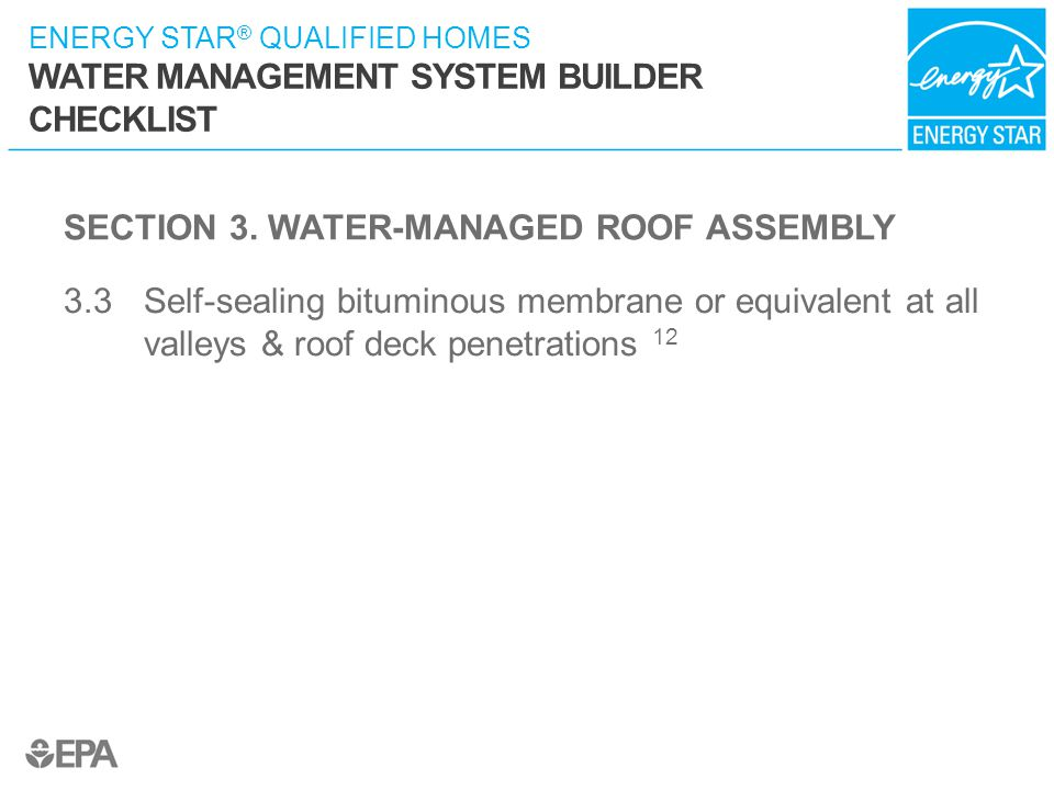 SECTION 3. WATER-MANAGED ROOF ASSEMBLY