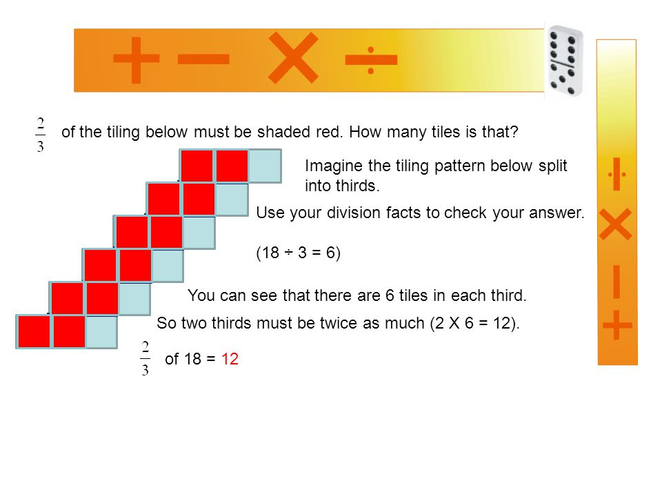 of the tiling below must be shaded red. How many tiles is that