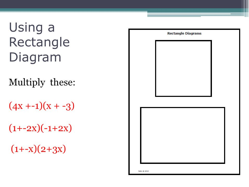 Using a Rectangle Diagram