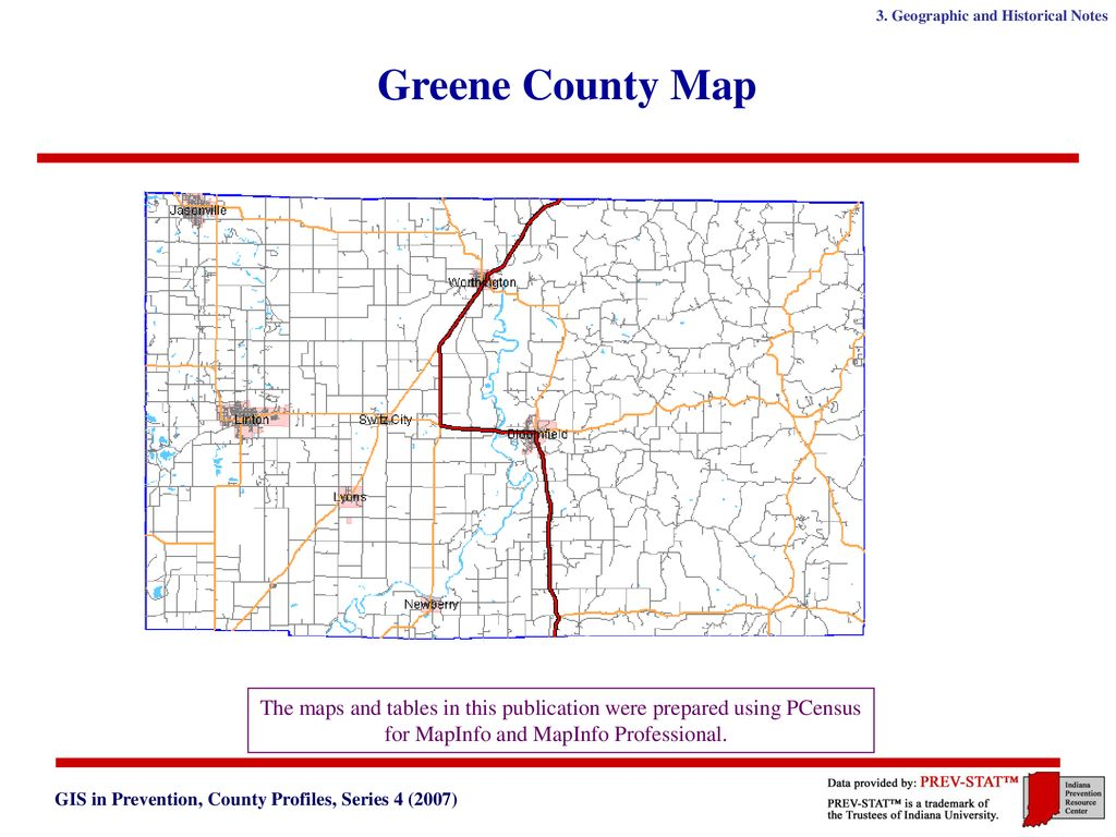 Indiana Prevention Resource Center GIS in Prevention County ...