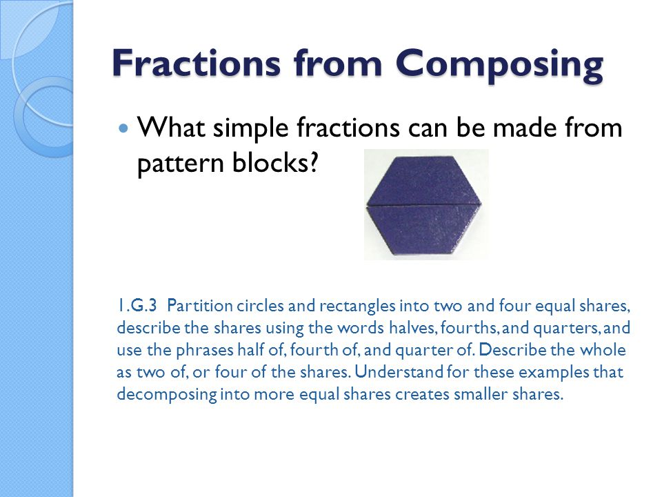 Fractions from Composing