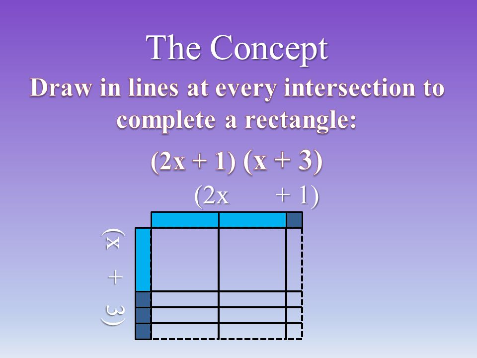 Draw in lines at every intersection to complete a rectangle: