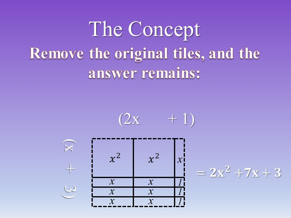 Remove the original tiles, and the answer remains: