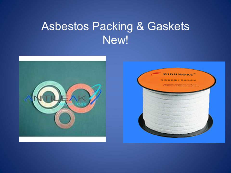 Asbestos Packing & Gaskets New!